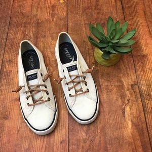 {SPERRY} Seacoast Canvas Topsider Sneakers White